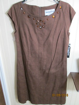 ANOTHER THYME LADIES DRESS SIZE 10 BROWN   NWT - $15.99
