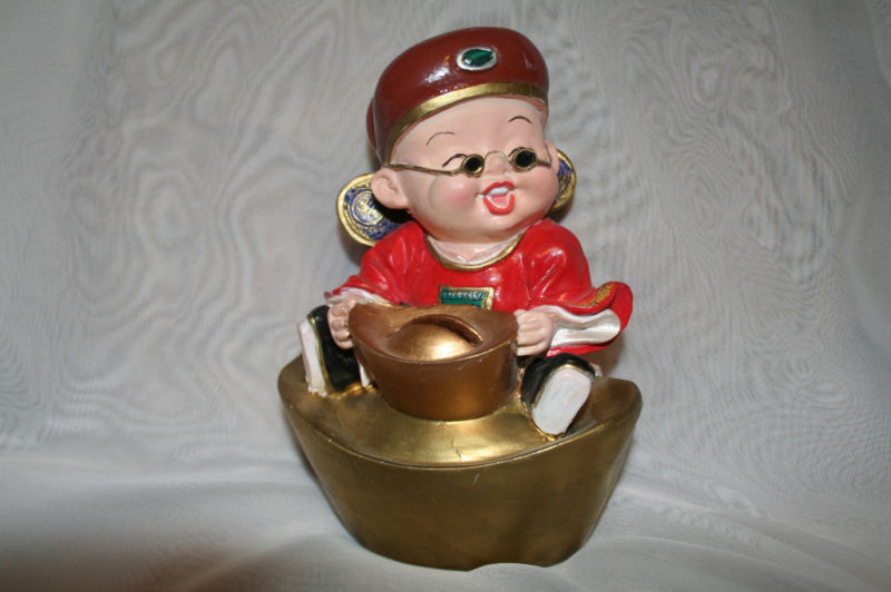 Primary image for Laughing Asian Oriental Boy Bank Piggybank