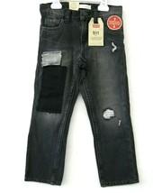 Levi 511 Nwt Jeans Garçon Denim Noir Taille 6 Patchs Délavé Slim Fit KD655 - $26.71