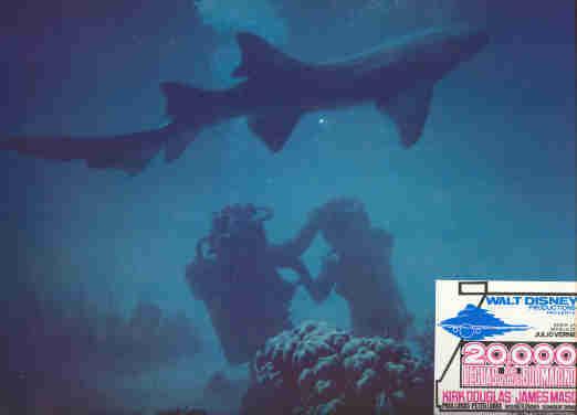 Disney -  20,000 - Leagues Under the Sea - 2 Divers -  Lobby Card