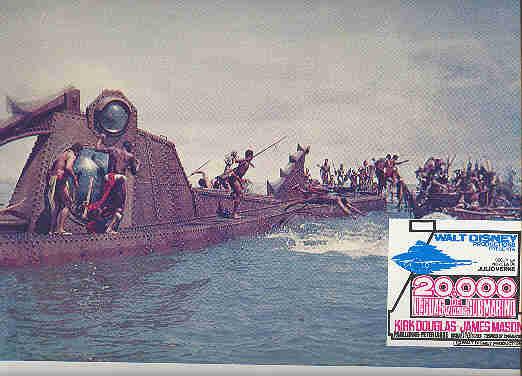 Disney - 20,000 Leagues Under  Sea -  Nautilus Battle - Lobby Card