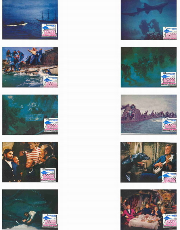 Disney -  20,000 Leagues Under the Sea - set of 10 Lobby Cards