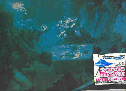 Disney - 20,000 Leagues Under the Sea - treasure - Divers  - Lobby Card