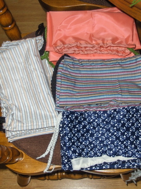 3  Purse or Shoe Dust Bag Storage Protectors Sweaters or Linens Travel Gift Bags
