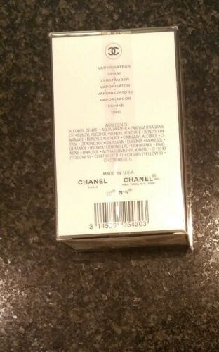 CHANEL No 5 PERFUME FOR WOMEN EDT SPRAY 1.7 OZ 50 ML NEW IN SEALED BOX