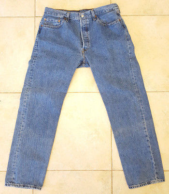 Primary image for Levi's 501 Blue Jeans-38x34-Men's-Button Fly