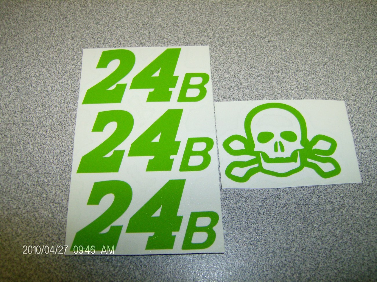 Primary image for JEFF GORDON  SKULL &  CROSSBONE 24B  GREEN TEST DECALS 1/24 SCALE ONE SET ONLY