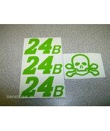 JEFF GORDON  SKULL &  CROSSBONE 24B  GREEN TEST DECALS 1/24 SCALE ONE SE... - $2.99
