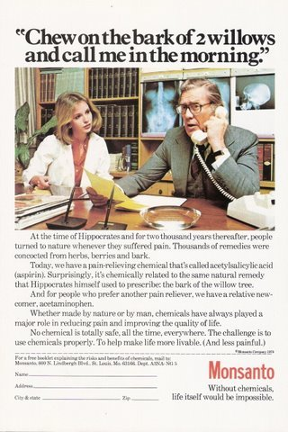 1979 Monsanto Chemicals office scene magazine print ad