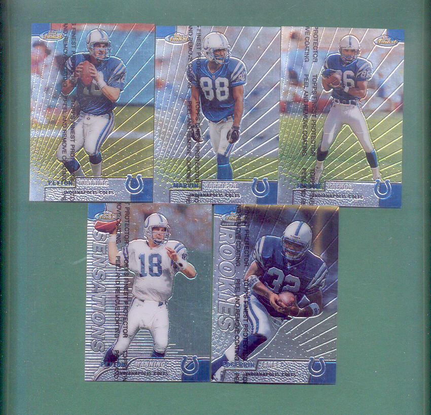 1999 Finest Indianapolis Colts Football Team Set