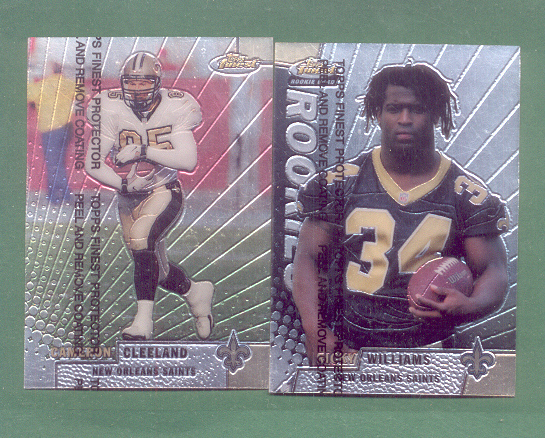 1999 Finest New Orleans Saints Football Team Set