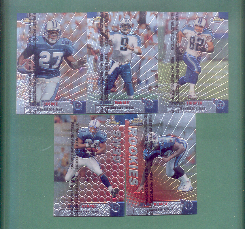 1999 Finest Tennessee Titans Football Team Set