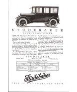 1923 Studebaker Four-Door Sedan price table print ad - $10.00