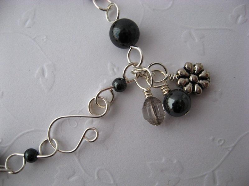 Vespa Girl Hematite Gemstone Bracelet Handmade by Chula