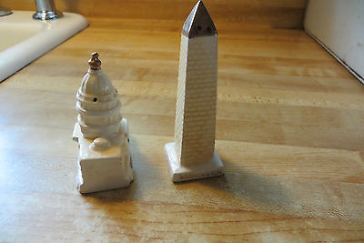 Washington D.C.US Capitol & US Monument Buildings set of Salt&Pepper Shakers.old
