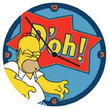 """The Simpsons Homer Saying D'oh! 13.5"""" Cordless Wood Wall Clock NEW SEALED - $24.18"""