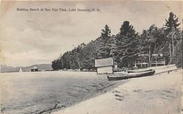 Bathing Beach Soo Nipi Park Lake Sunapee New Hampshire 1907 postcard - $6.88