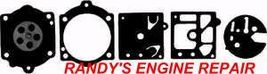 Walbro D10-HDB HDB Carburetor Diaphragm & Gasket Kit for Trimmer Chainsaw Blower - $7.78