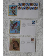 """3 US """"Wildlife"""" Stamps Booklet Colorano Silk Co... - $10.00"""