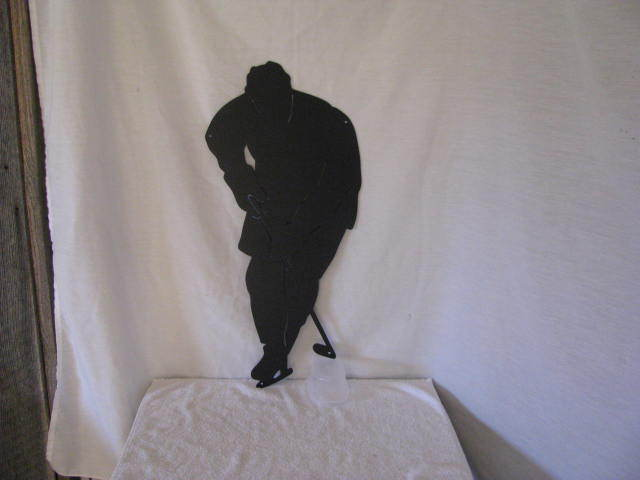 Hockey Player 3 Metal Sports Wall Yard Art Silhouette