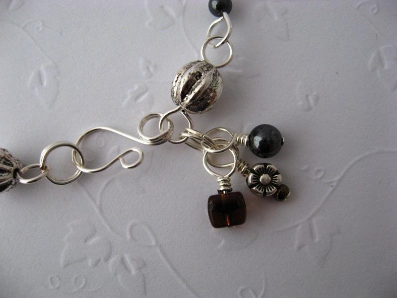 Vespa Girl Silver & Hematite Bracelet Handmade by Chula
