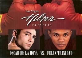 oscar delahoya vs felix trinidad 1999 las vegas boxing postcard rare championshi - $39.99