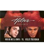 oscar delahoya vs felix trinidad 1999 las vegas boxing postcard rare cha... - $39.99