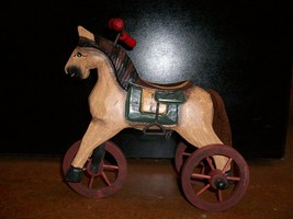 Replica, Antique Riding Horse On Wheels (Small, 7 3/4 inches), New - $18.50