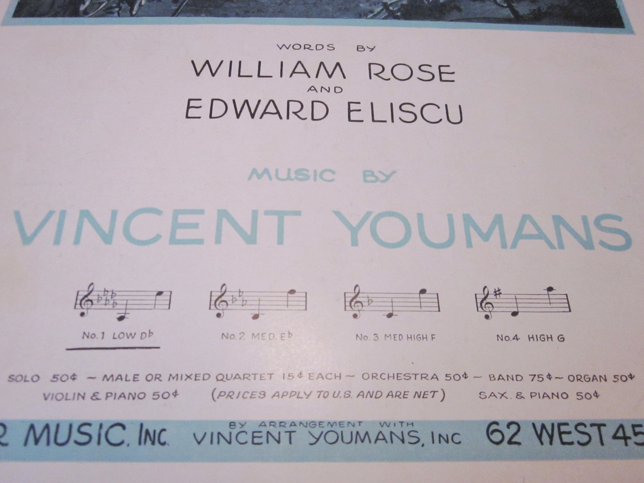 Vintage Sheet Music Without A Song by Rose & Eliscu 1929 - Vincent Youmans