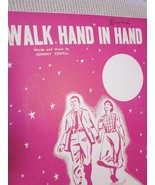 Vintage Sheet Music Walk Hand In Hand by Johnny Cowell  1956 - $7.99