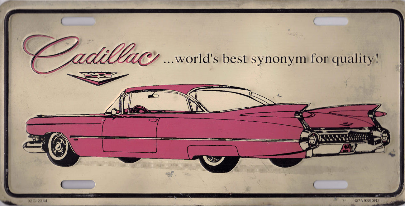 Cadillac car plate
