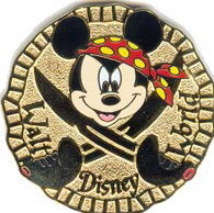 Disney Mickey Mouse pirate gold pin never sold