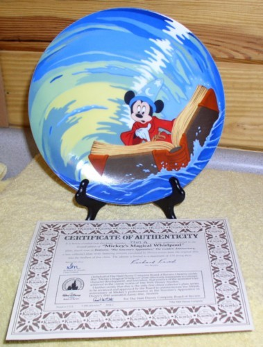 Disney Mickey Sorcerer with book Plate