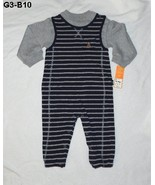 Carters Sz 18 mo. Gray and Black 1 pc  Romper NWT - $14.99