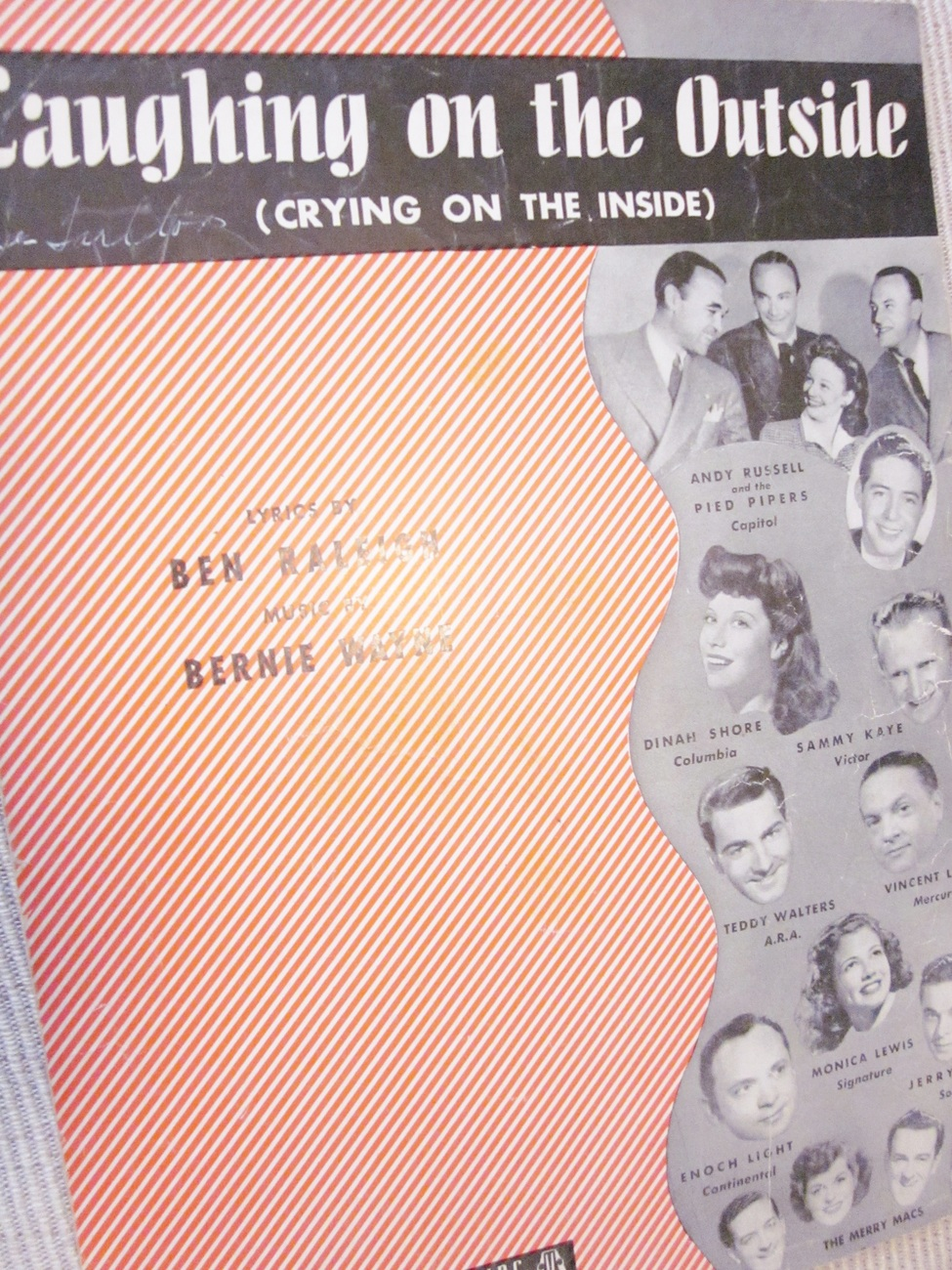 Vintage Sheet Music Laughing On The Outside 1946 by Raleigh & Wayne