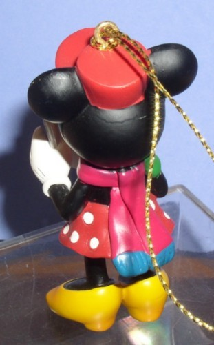 Disney Minnie Mouse caroling with song book ornament