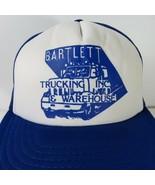 New Vintage Bartlett Trucking Warehouse Inc Blue White Trucker Hat Cap S... - $51.94