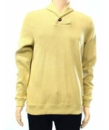 Tasso Elba Men's Yellow Golden Heather Shawl Collar Ribbed Pullover Sweater - $27.99