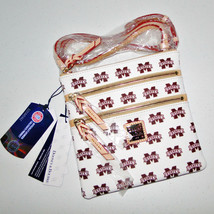 Dooney & Bourke Mississippi State Triple Zip Crossbody Bag