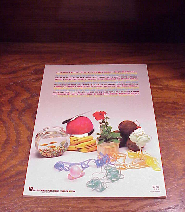 1982 The Novelty Songbook, no. 20, 34 songs, Song Book
