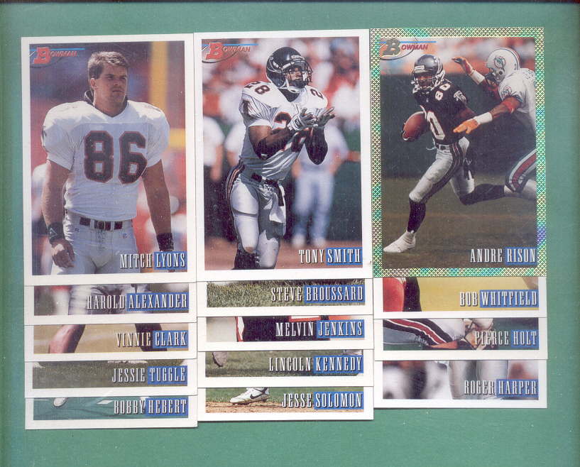 1993 Bowman Atlanta Falcons Football Team Set