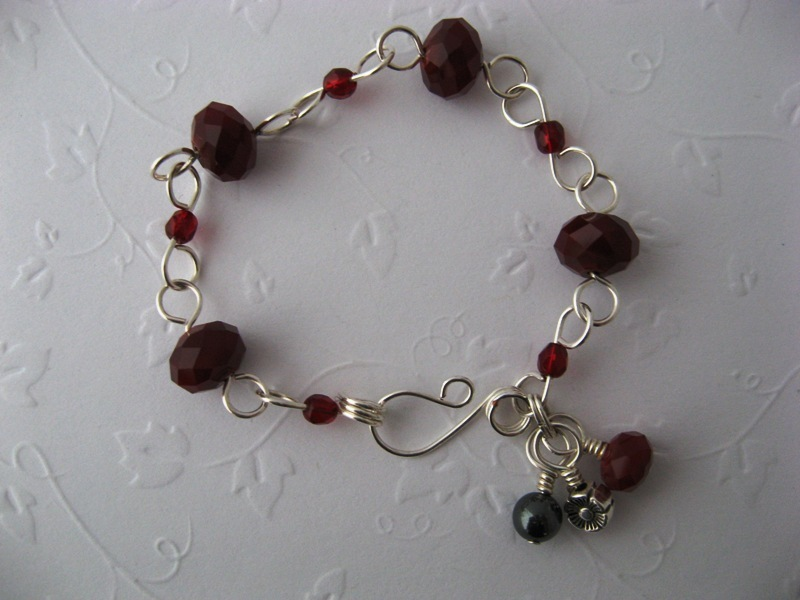 Vespa Girl Red Bead Bracelet Handmade by Chula
