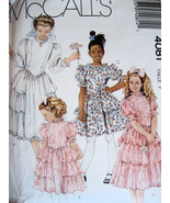 McCalls 4081 Vintage 80s Pattern Girls 7 Jr Brides Maid - $5.95