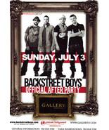 BACKSTREET BOYS After Party @ GALLERY Nightclub Las Vegas Promo Card - $1.95