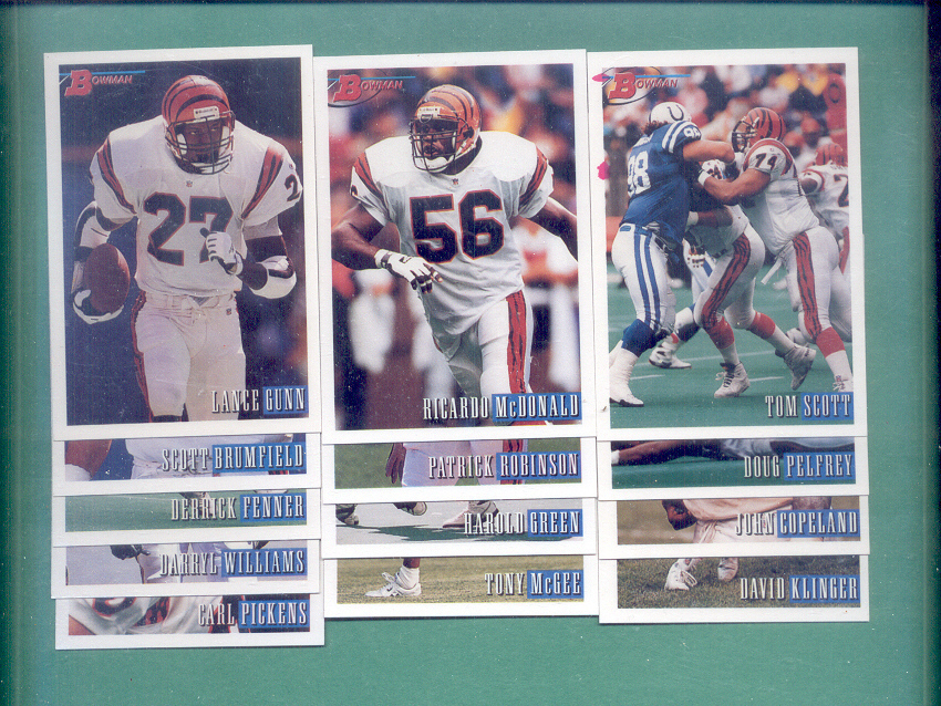 1993 Bowman Cincinnati Bengals Football Set