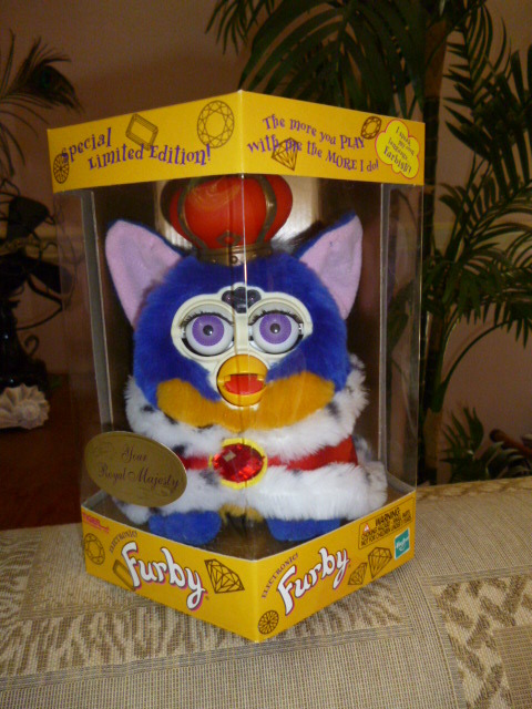 Original 2000 FURBY Your Royal Majesty Special Limited Edition Furby NRFB