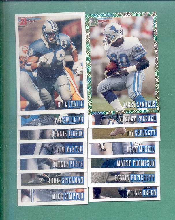 1993 Bowman Detroit Lions Football Set