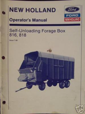 New Holland 816, 818 Forage Box Operator's Manual