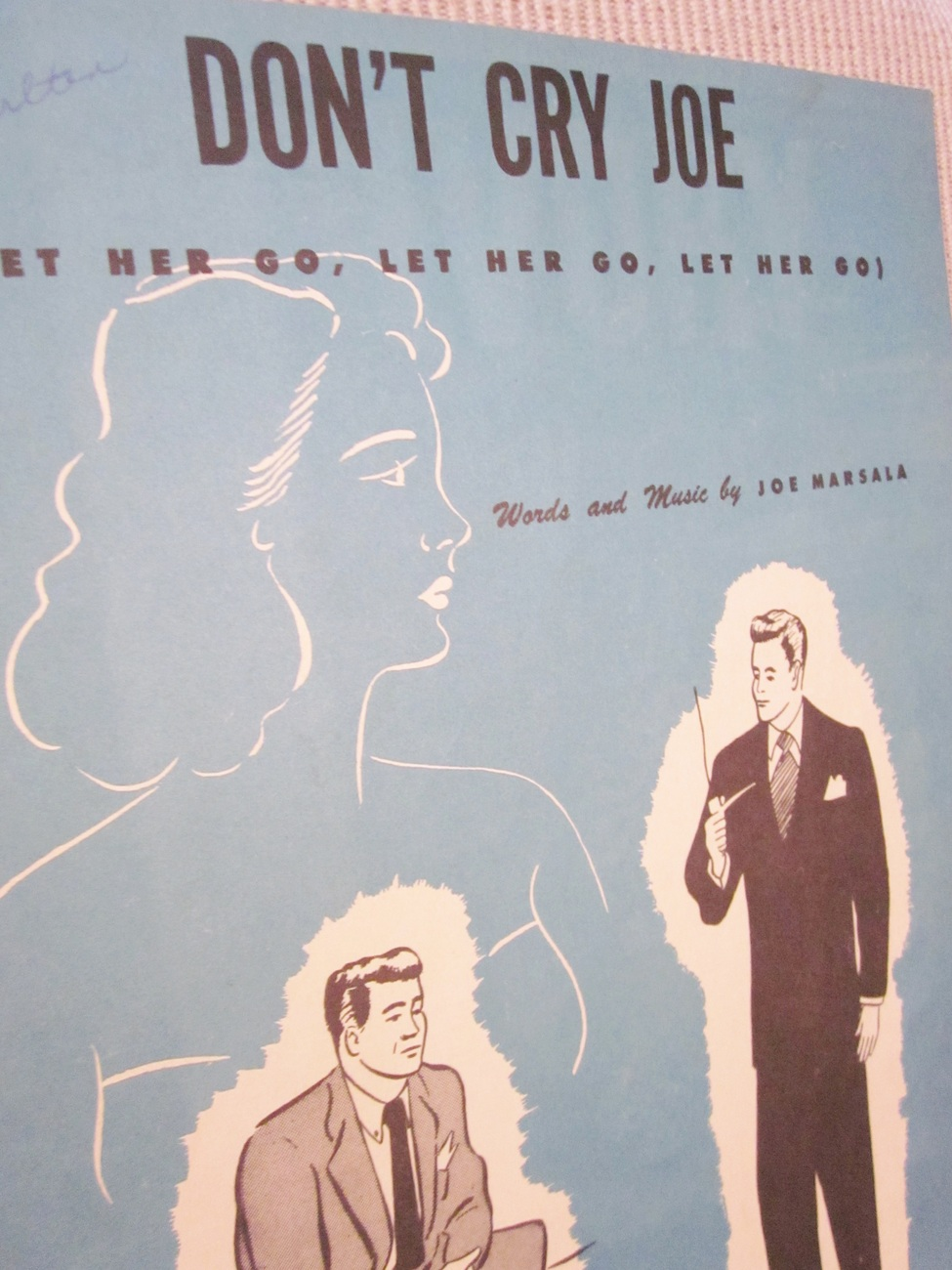 Vintage Sheet Music Don't Cry Joe 1949 by Joe Marsala