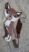 Whirligig, Brown Fox. Handcrafted,handpainted,wind mobile wind spinner,m... - $58.00